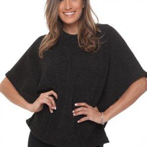 أندريا قميص أسود منسوج