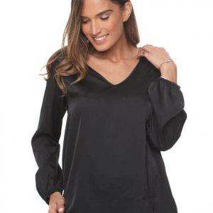 חולצה הילונת שחורה