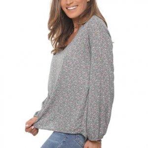 قميص لورين رمادي زهري