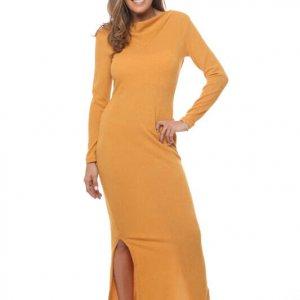 فستان منسوج من الخردل Gnifer