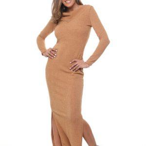 فستان جنيفر منسوج من الجمل
