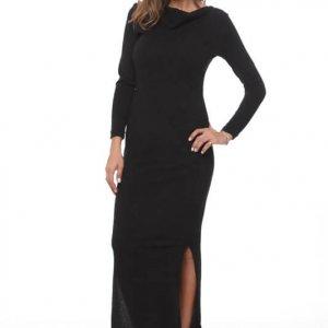 فستان جينيفر من نسيج أسود