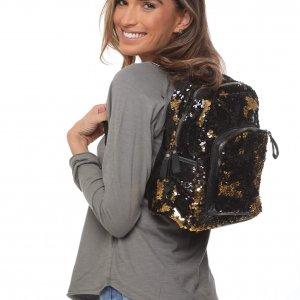 حقيبة ترتر كبيرة باللونين الأسود والذهبي