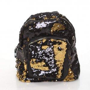 תיק פייטים גדול שחור זהב