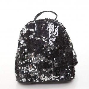 Small black sequin bag
