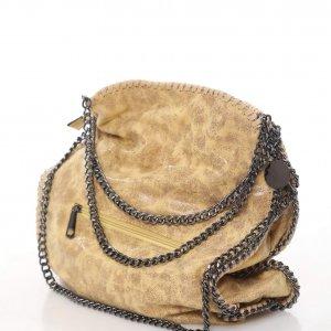 حقيبة جانبية تشبه جلد الخردل قلادة سوداء