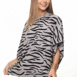 أندريا زيبرا قميص رمادي