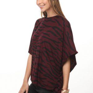 قميص أندريا بوردو زيبرا