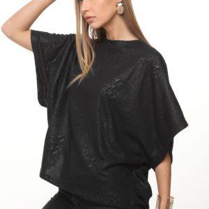 חולצה אנדריה שחור מוטבע