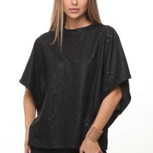 أندريا قميص أسود مضمن