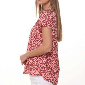 قميص برغوث أحمر زهري