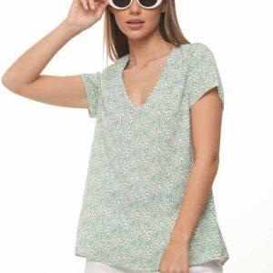 قميص أخضر فاتح عباد الشمس