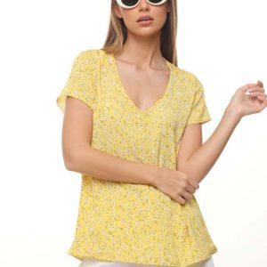 חולצה לילוש צהוב פרחוני
