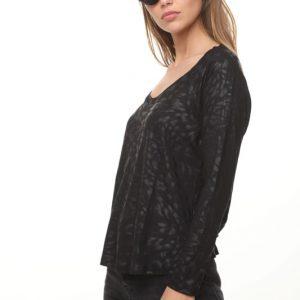 חולצה מזל שחור מרוח