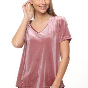 قميص نيكيتا الوردي المخملي
