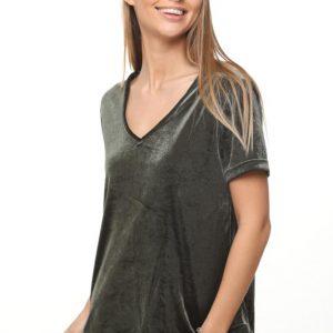 قميص نيكيتا المخمل الأخضر