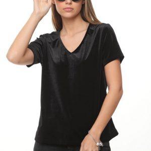 قميص نيكيتا المخمل الأسود