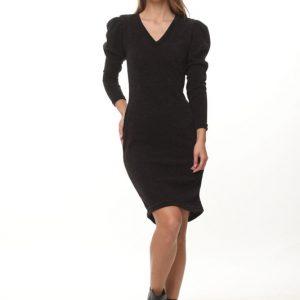 فستان فينوس منسوج أسود