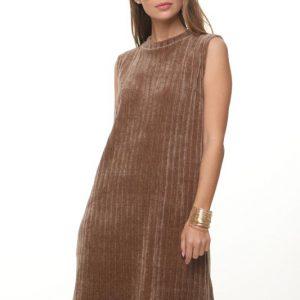 فستان بني تشينيل