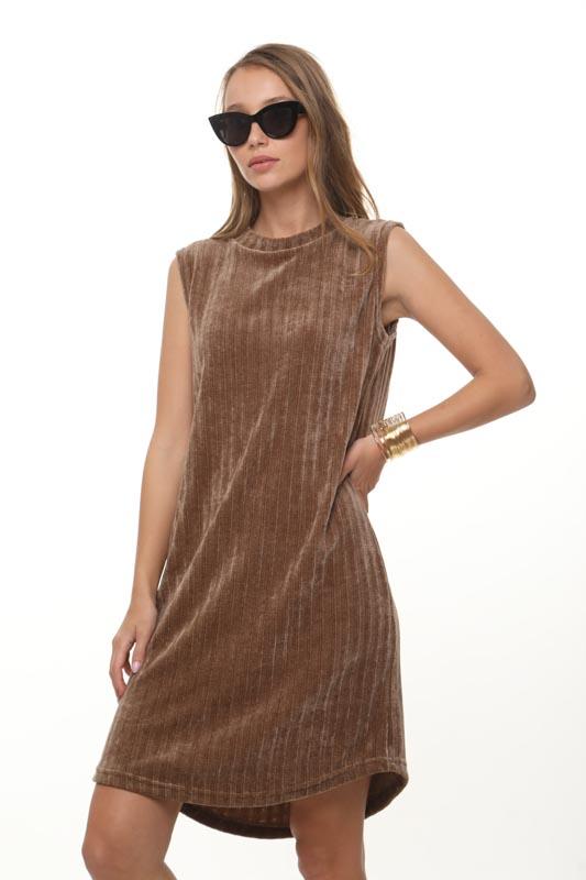 שמלה שיניל חומה