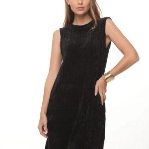 فستان أسود تشينيل