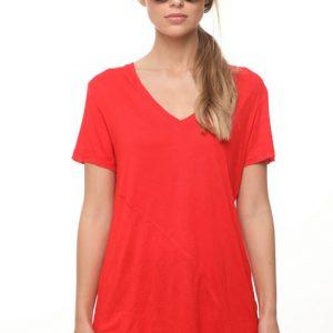 חולצה אדומה אסימטרית תפר
