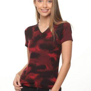 חולצה אודרי שחור אדום