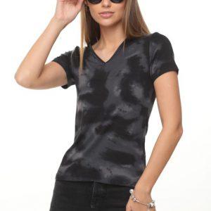 قميص أودري أسود ورمادي