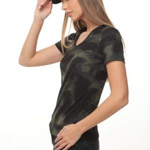 חולצה אודרי שחור ירוק
