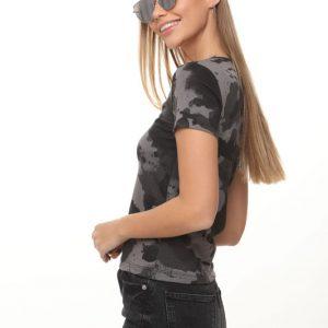 חולצה איימי צבאי אפור שחור