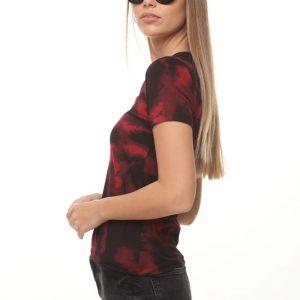 חולצה איימי שחור אדום
