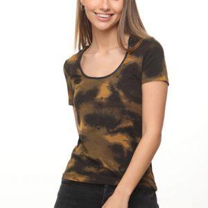 قميص ايمي الخردل الأسود