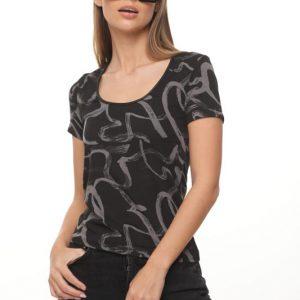 חולצה איימי שחור מרוח