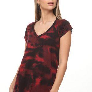 قميص جيد تاي داي أحمر أحمر أسود