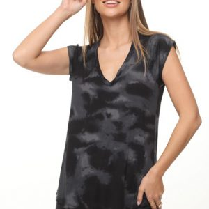 قميص جيد تاي داي أسود رمادي