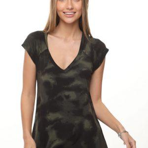 قميص جيد تاي داي أسود أخضر