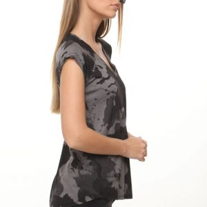 قميص عسكري جيد أسود رمادي