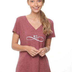قميص ليما بورجوندي Heart Infinity