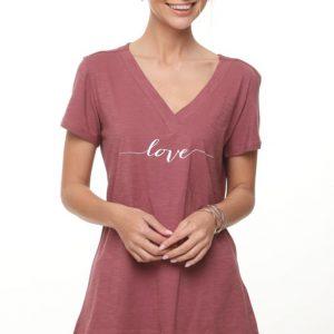 قميص ليما بورجوندي LOVE