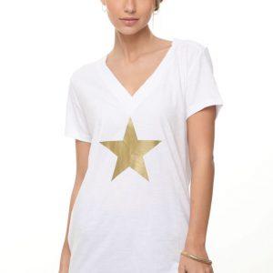 חולצה לימה לבנה כוכב