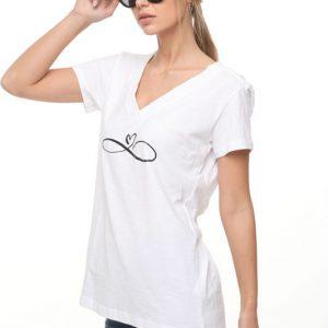 חולצה לימה לבנה לב אנפיניטי