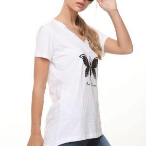 قميص الفراشة ليما الأبيض