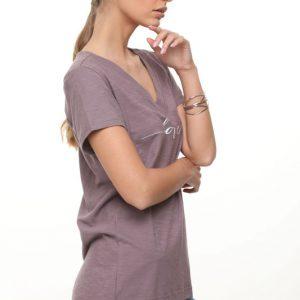 قميص ليما الأرجواني LOVE