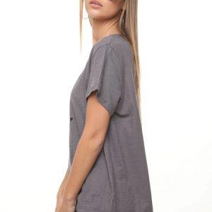 قميص قميص بيج ستار رمادي