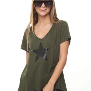 חולצה נופים ירוקה כוכב גדול
