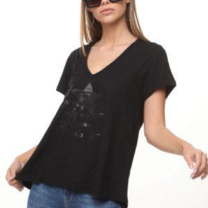 חולצה נופים שחורה כוכב