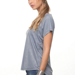 חולצה רינת דמוי עור גינס בהיר