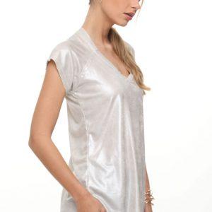 قميص رينات يشبه الجلد اللؤلؤي