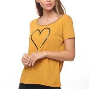 חולצה רינת חרדל לב גדול