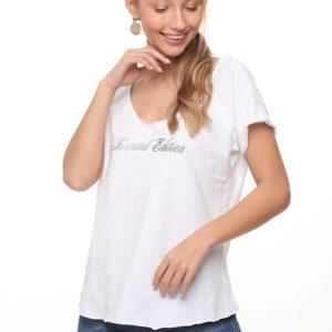 قميص شارون الأبيض الصيف